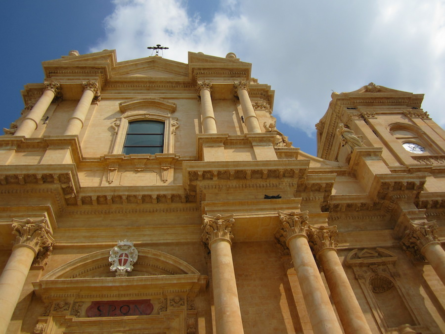 La cathédrale de Noto, restauré récement. Photo de María Calvo.