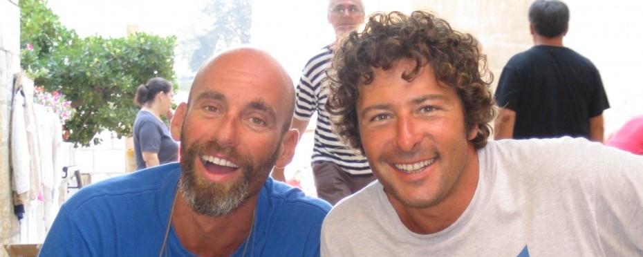 Les skippers Antonio et Paolo.
