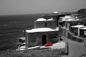 Photo des damusso qui peuplent l'île. ici, a côté de la mer. Photo de apintimalli81.