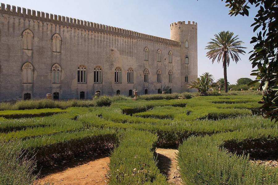 Le magnifique jardin et le château. Photo de Guido Boccignone.