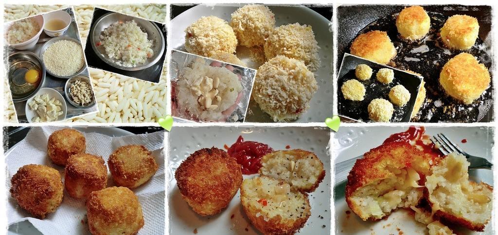 Les fameux et typiques arancini, faits avec du riz et remplis d'imagination gastronomique.