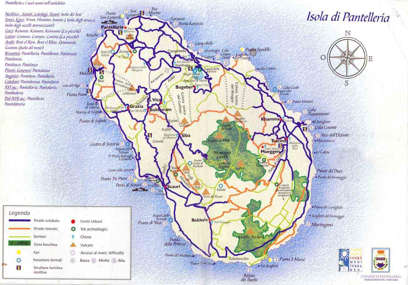 Carte de Pantelleria. Cliquez pour l'élargir.