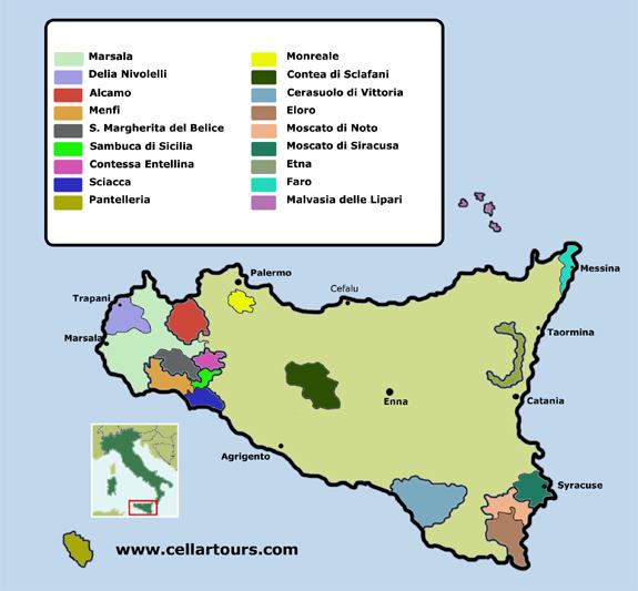 Vins de Sicile, visite et degustation