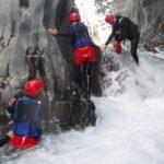 River trekking dans les gorges de l'Alcantara