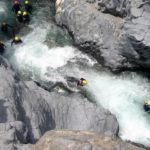Body rafting dans les gorges de l'Alcantara